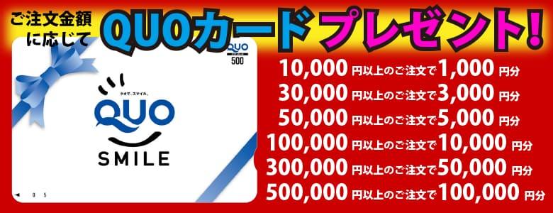 10万円分QUOカードプレゼント