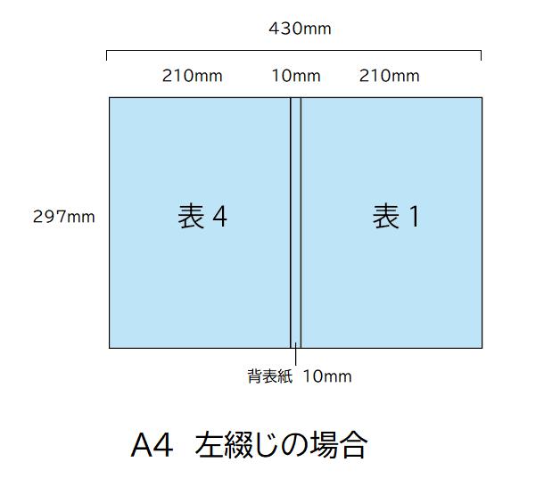 A4 表紙データ(背表紙付き)