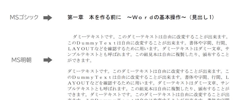 Wordのフォント選び「MSゴシックとMS明朝」の使い分け方、標準フォントについて
