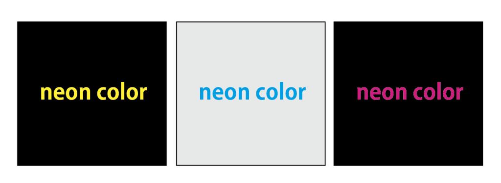 目立たせたい箇所には原色を100%使用した色を使うといい
