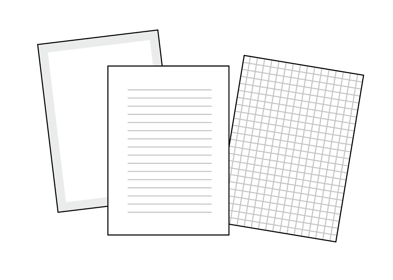 市販のノートや手帳ではできない工夫を楽しみましょう。
