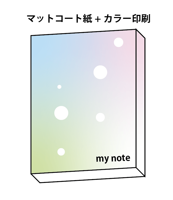 無線綴じで仕上げるノート-フルカラー
