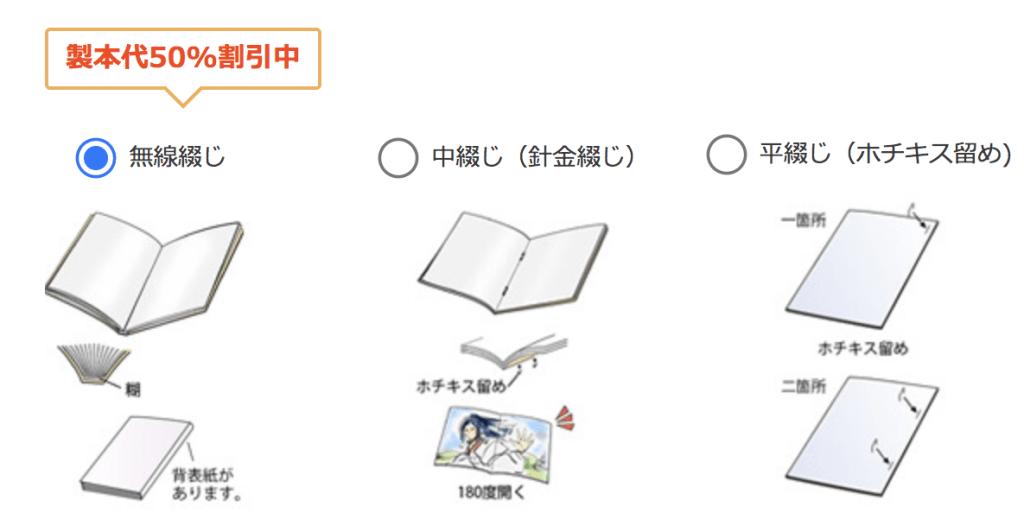イシダ印刷では中綴じ・平綴じ・リング製本なども選べます