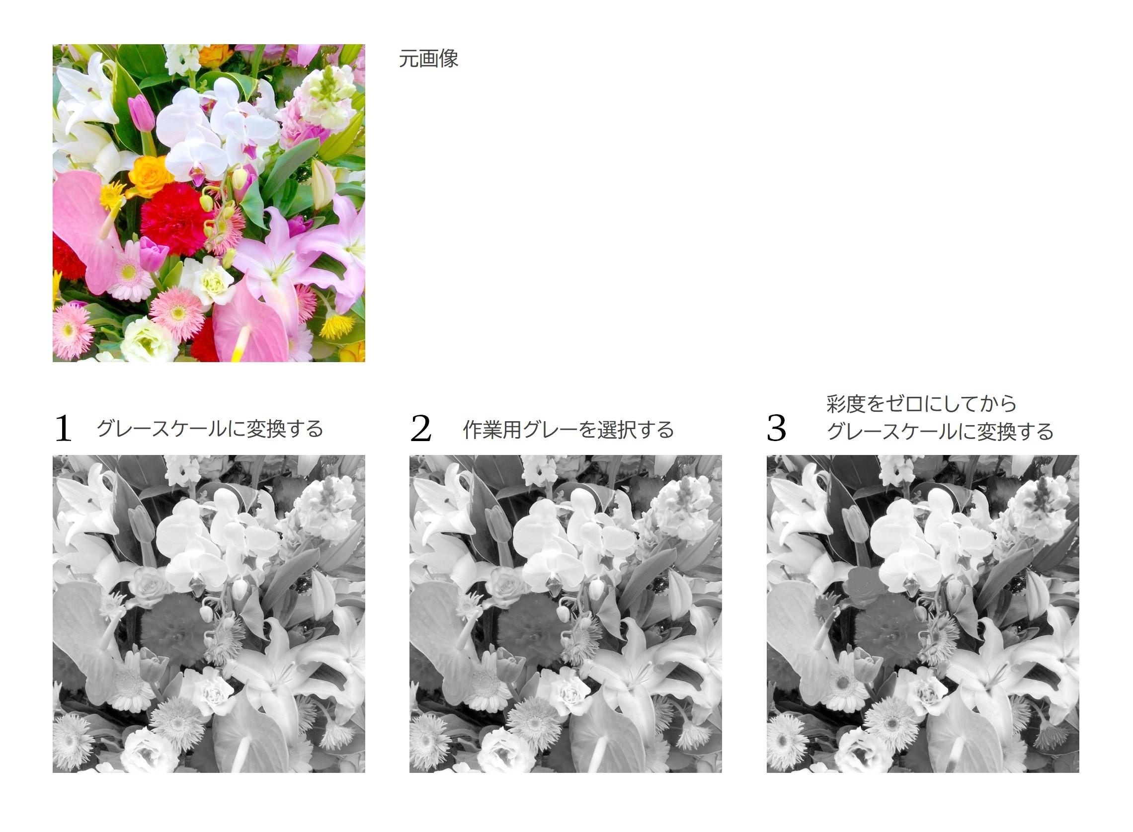 Photoshopでカラー画像をモノクロ変換する3つの方法