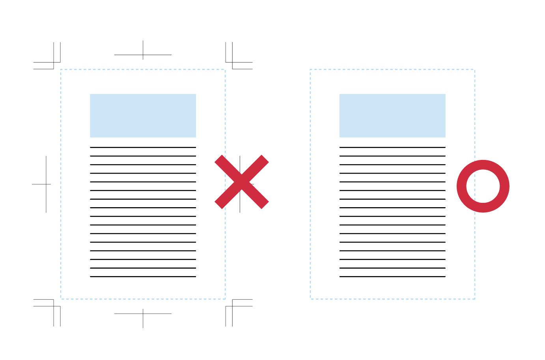 PDF入稿にトンボは不要です