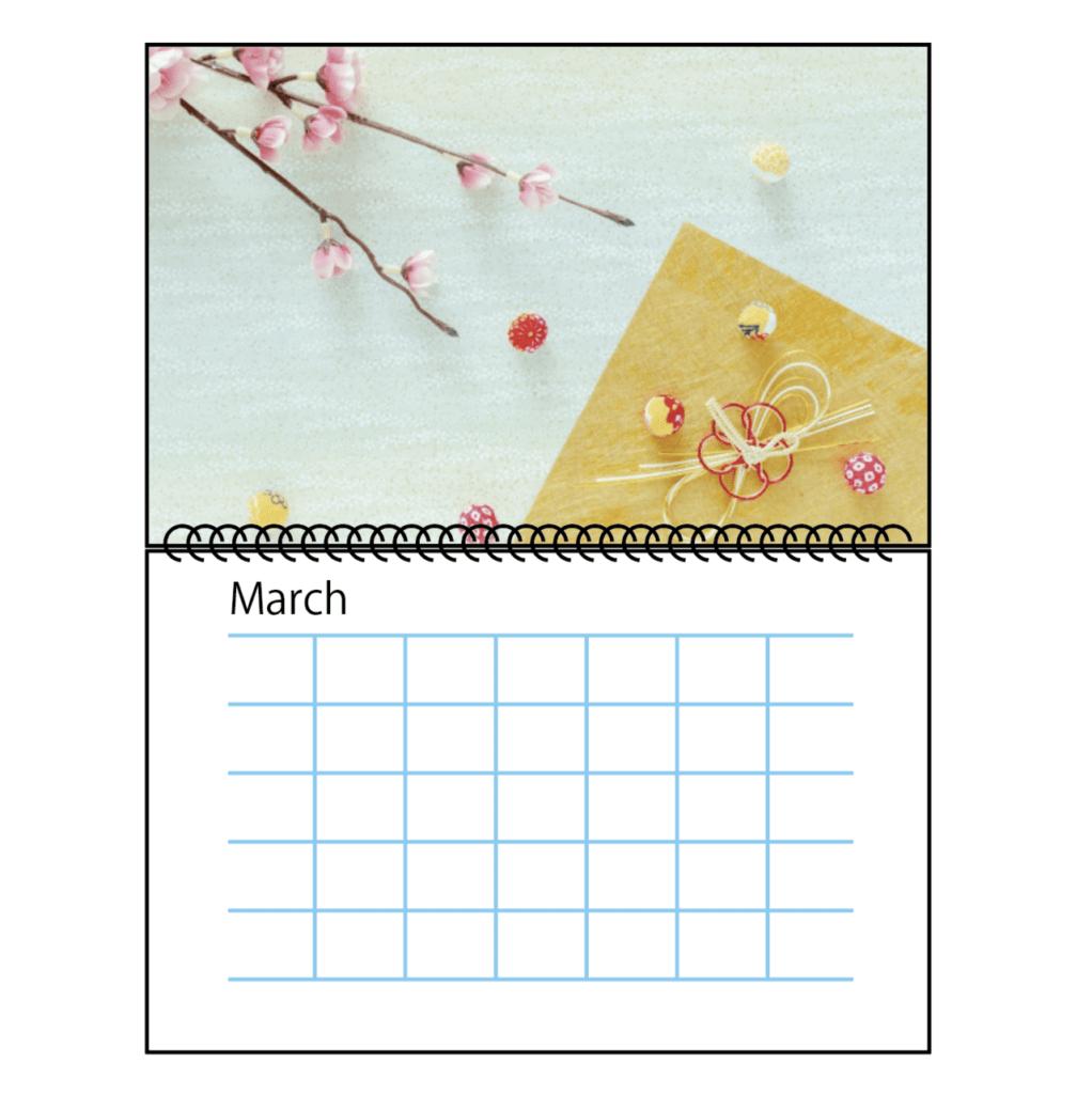 リング製本でオリジナルカレンダーを作る