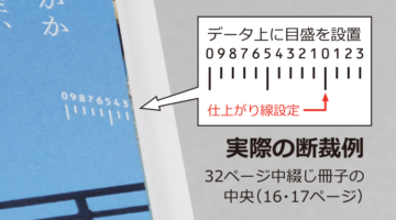 中綴じ冊子のデータ作成 注意点4